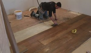 Flooring Installation Services. Flooring being installed by our experts from Pro Floor & Tile.