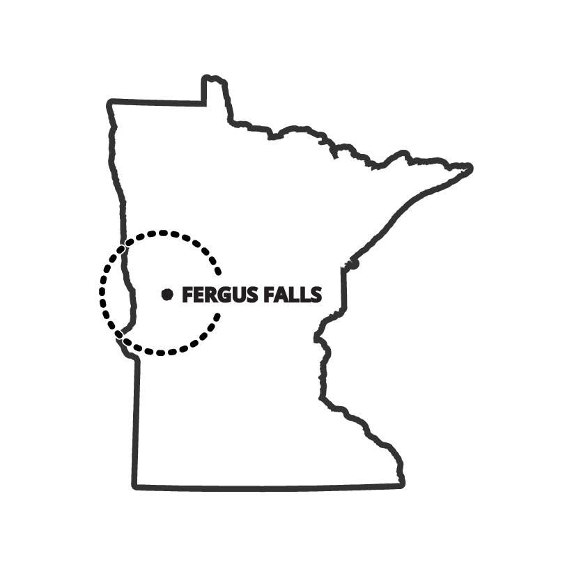 Service Area Map for Pro Floor & Tile of Fergus Falls, MN in Central Minnesota