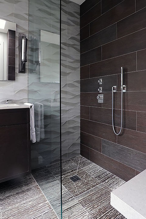 Beautiful Glass and Tile Shower